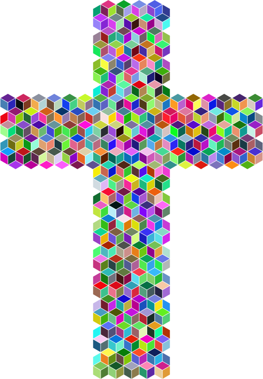 Prismatic Cross Cubes Mosaic