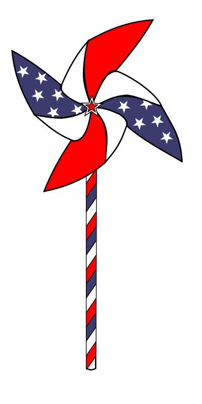 July 4th Pinwheel Animation