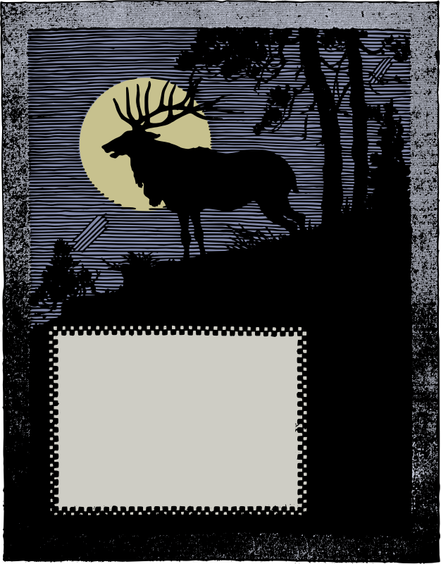 Deer Frame - Colour