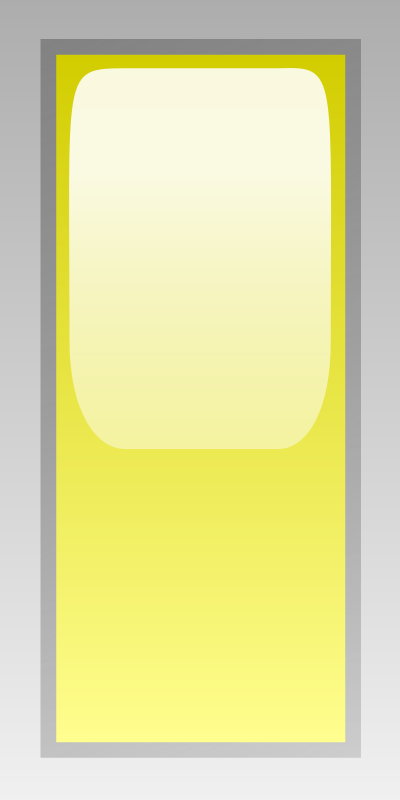 led rectangular v yellow