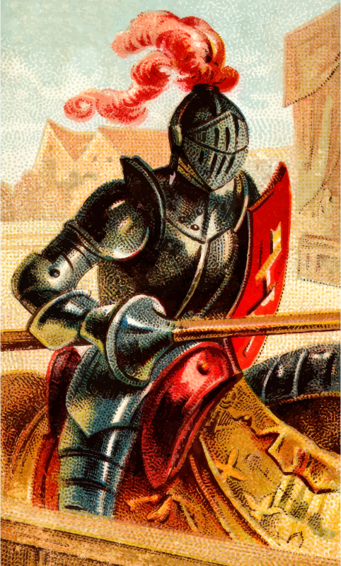 Cigarette card - Knight's Lance