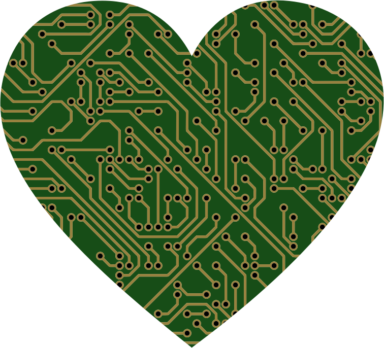 Printed Circuit Board Heart