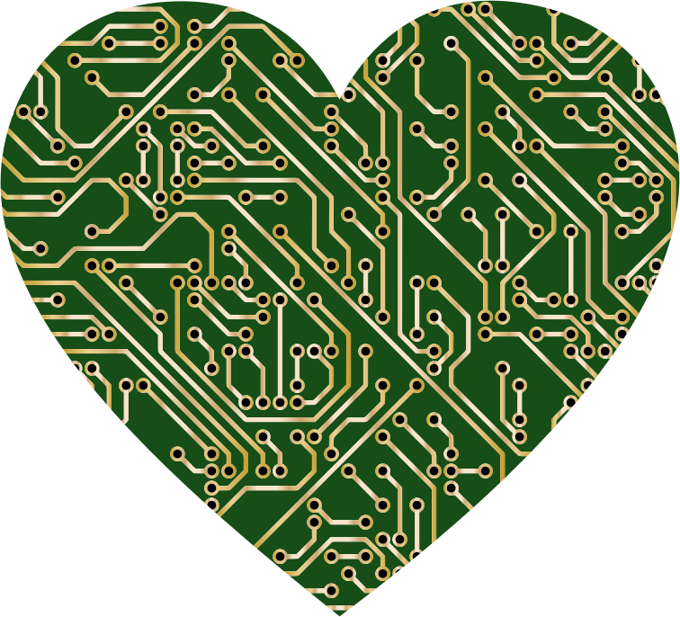 Printed Circuit Board Heart 2