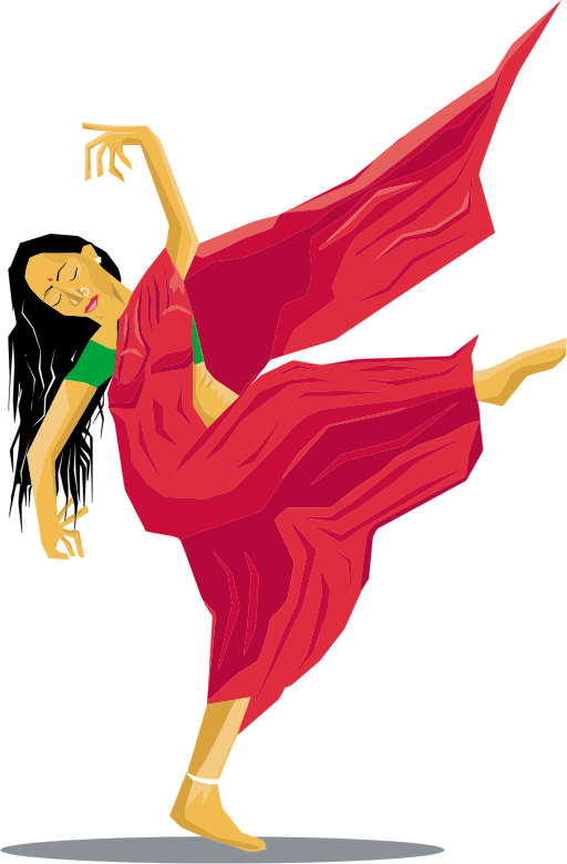 Indian Lady Dancing