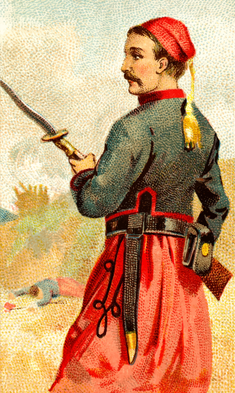 Cigarette card - Bayonet Sword