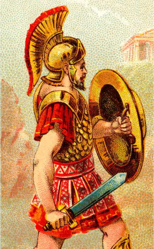 Cigarette card - Greek Sword