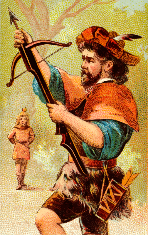 Cigarette card - Bow Gun