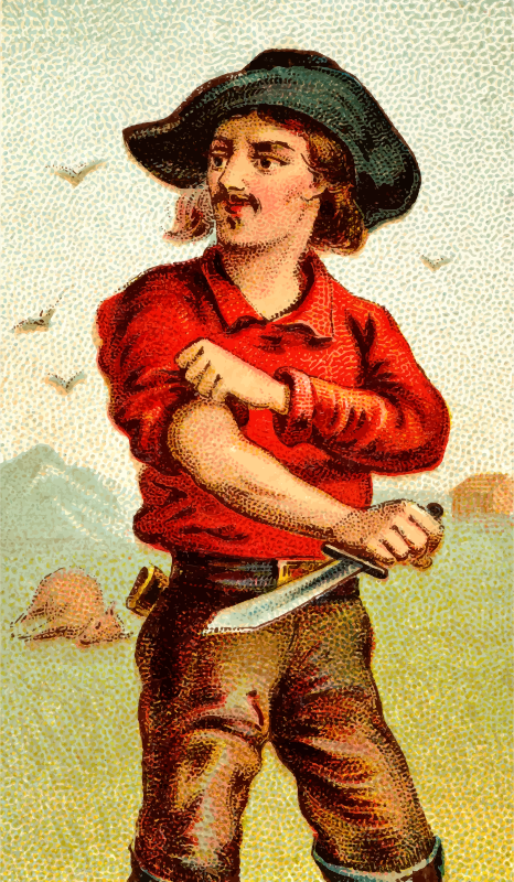 Cigarette card - Bowie Knife