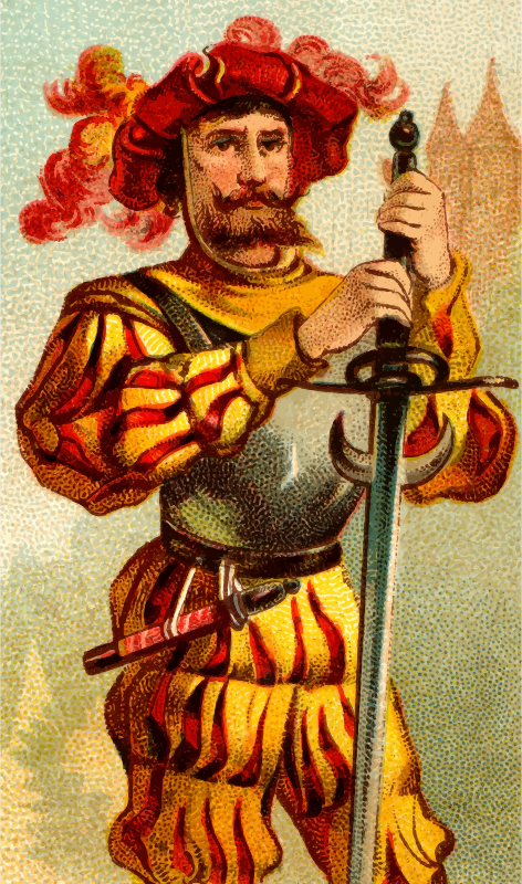 Cigarette card - Two Handed Sword