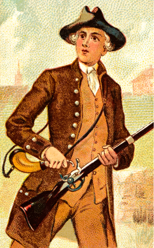 Cigarette card - Flint Lock Musket