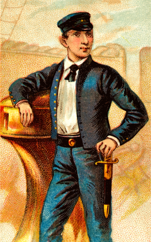 Cigarette card - Midshipman's Dirk