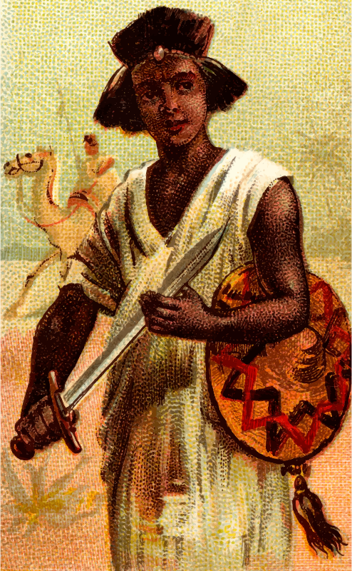 Cigarette card - Nubian Sword