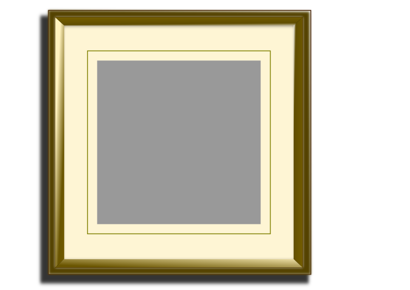 Golden picture frame for square images