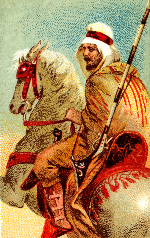Cigarette card - Arab Musket