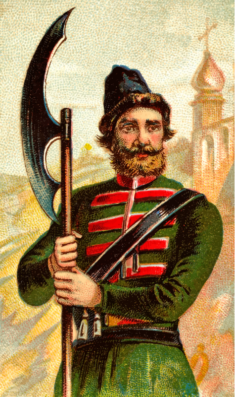 Cigarette card - Russian Strelitz Axe