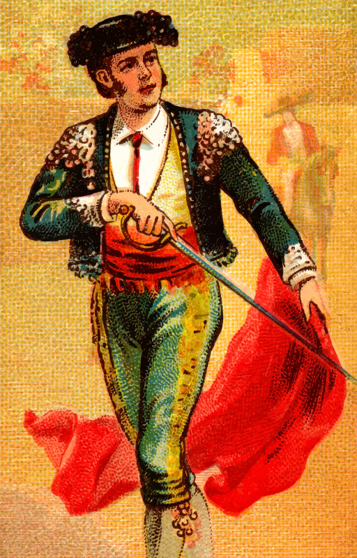 Cigarette card - Bullfighter's Sword