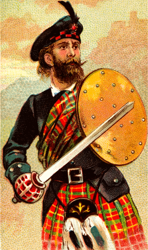 Cigarette card - Scotch Claymore