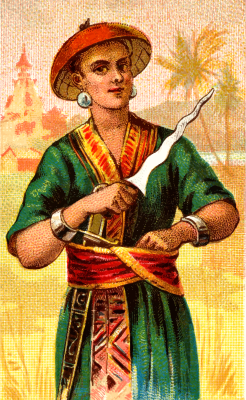 Cigarette card - Malay Creese