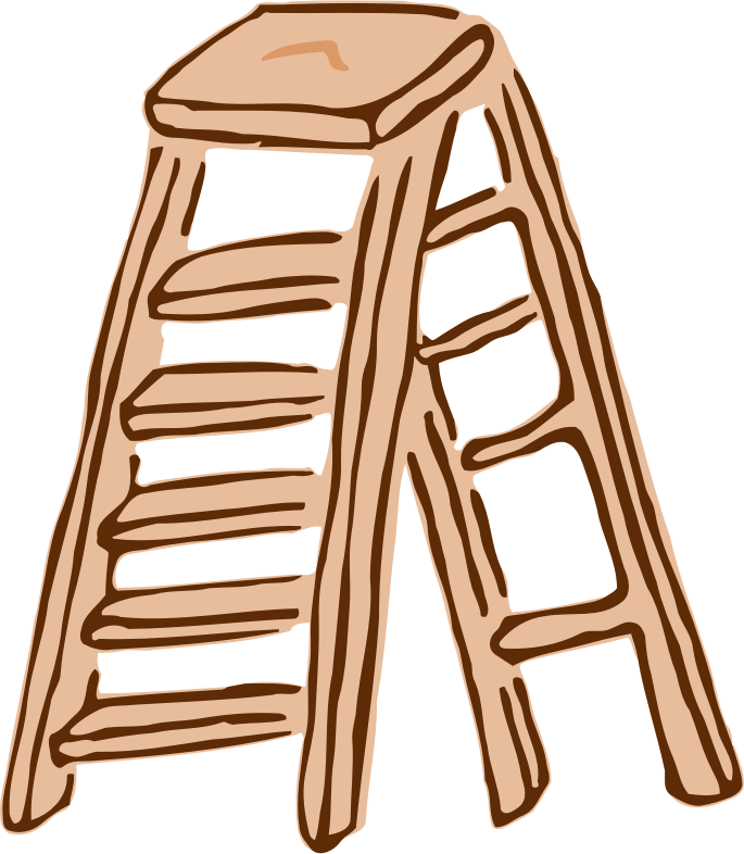 Roughly drawn stepladder