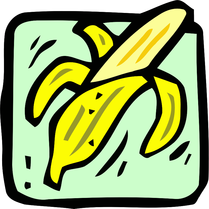 Food and drink icon - banana