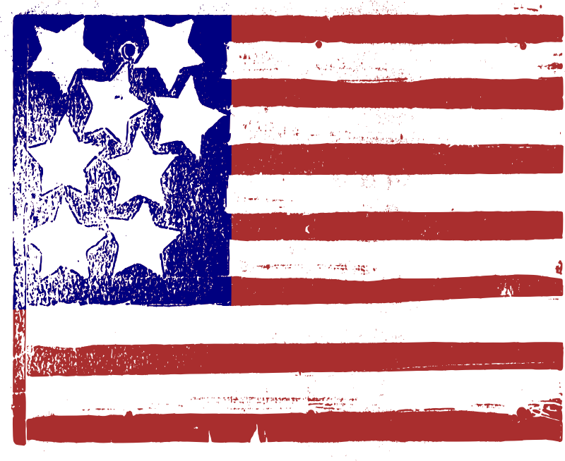 Contorted US Flag - Colour