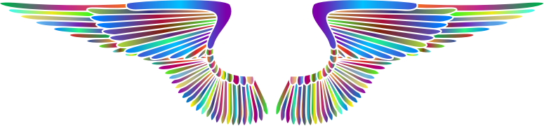 Hand Drawn Wings Prismatic 2