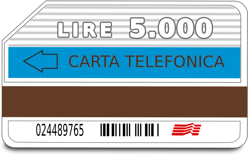 Italian telephone card