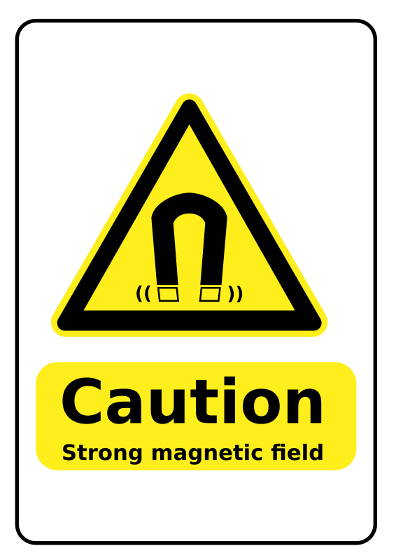 Strong Magnets Warning Sign