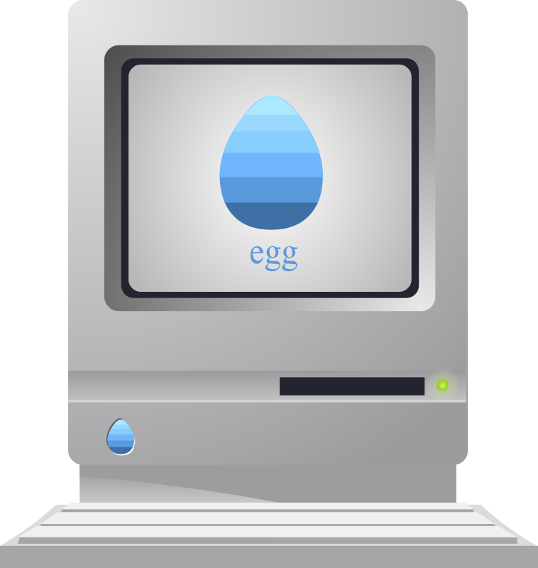 Anachronistic vintage 'egg' computer from Glitch