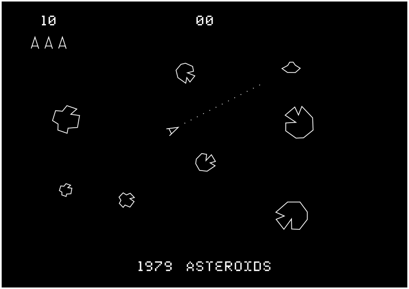 Asteroids video games 1979