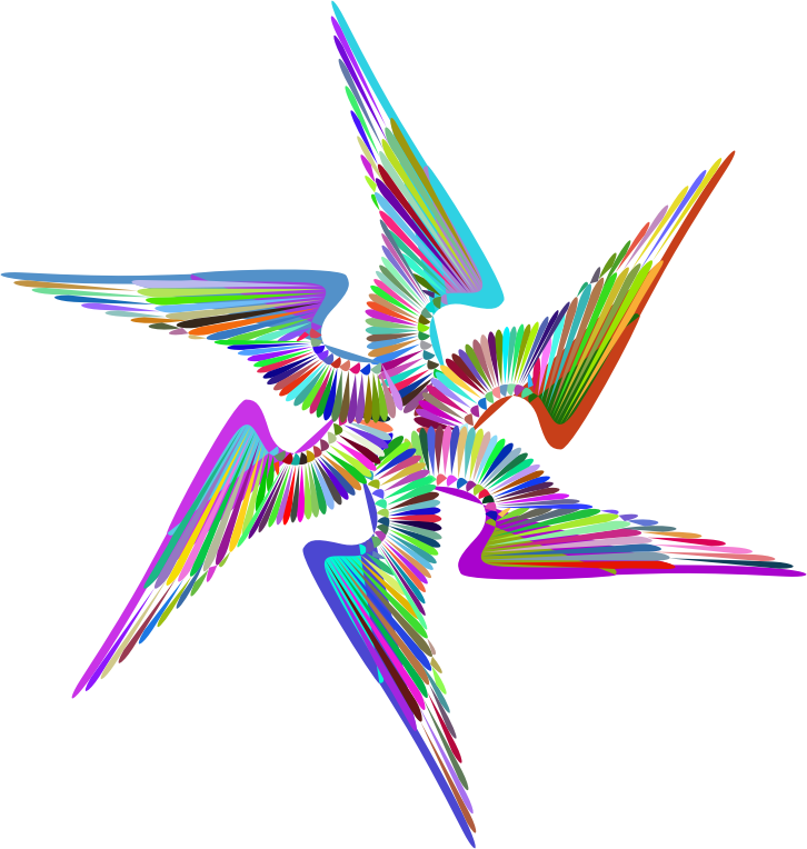Wings Design Line Art Prismatic