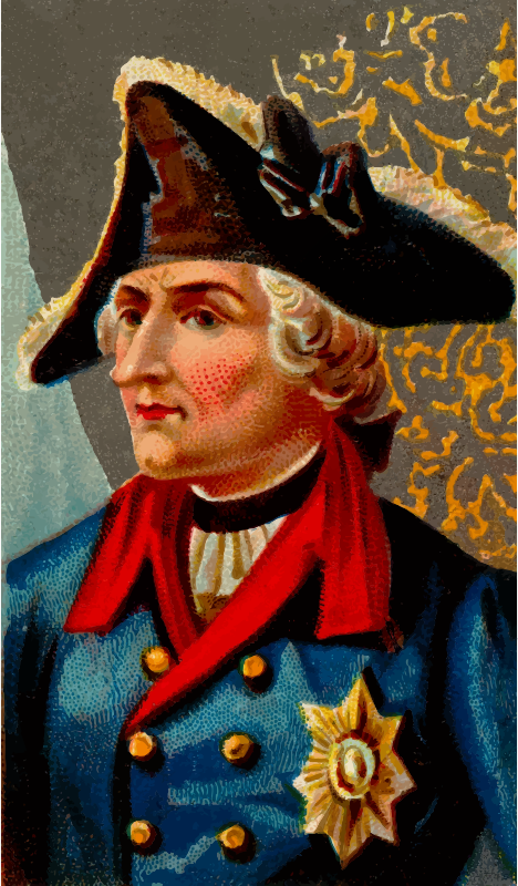 Cigarette card - Frederick the Great