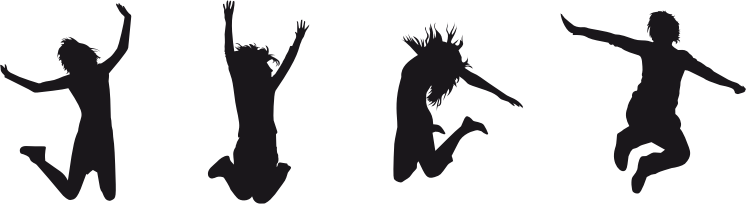 Joy Jumping Silhouette
