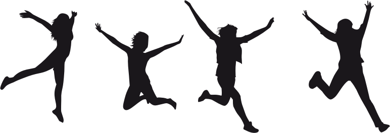 Joy Jumping Silhouette 2