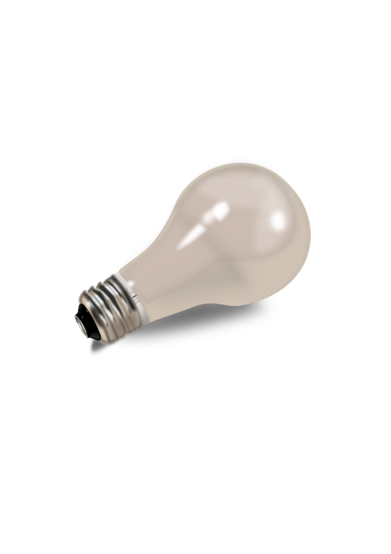 Realistic light bulb lampadina