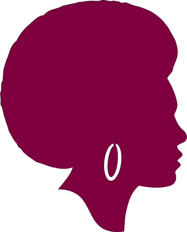 African American Female Silhouette - Remix in Purple w/o Pick