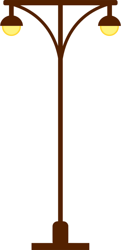 Street lamp post vectorized