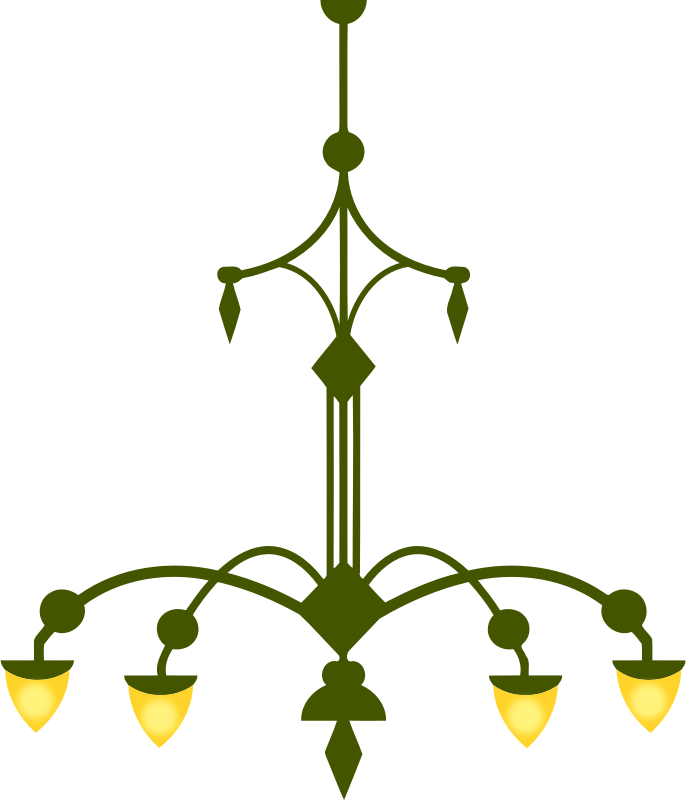 Ornate chandelier vectorized