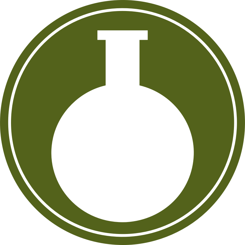 Round bottomed flask vectorized