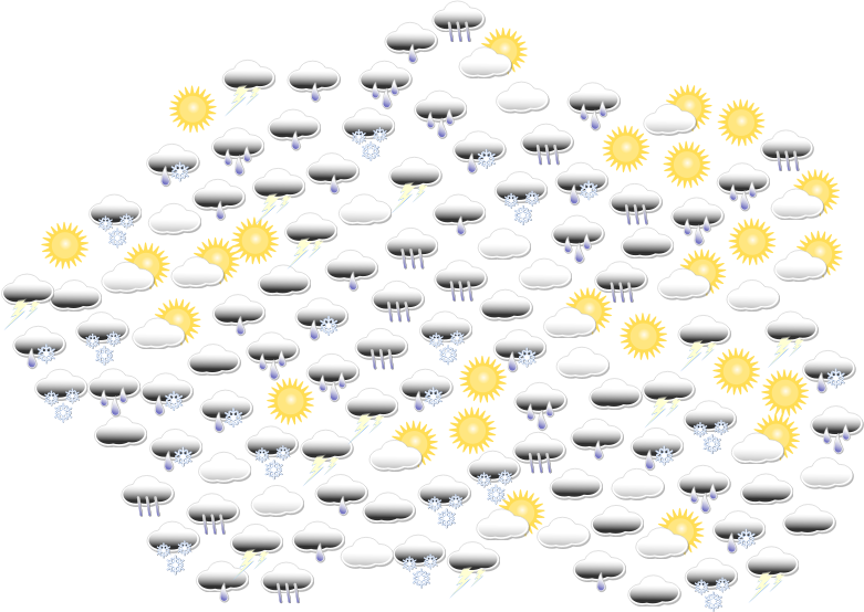 Weather Icons In Cloud Shape