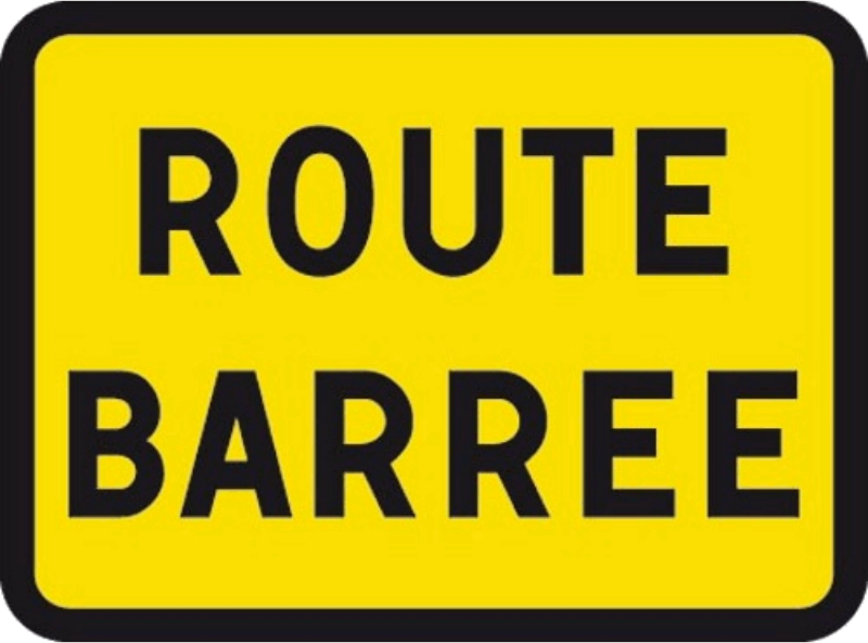 Route Barrée KC1 Road Closed