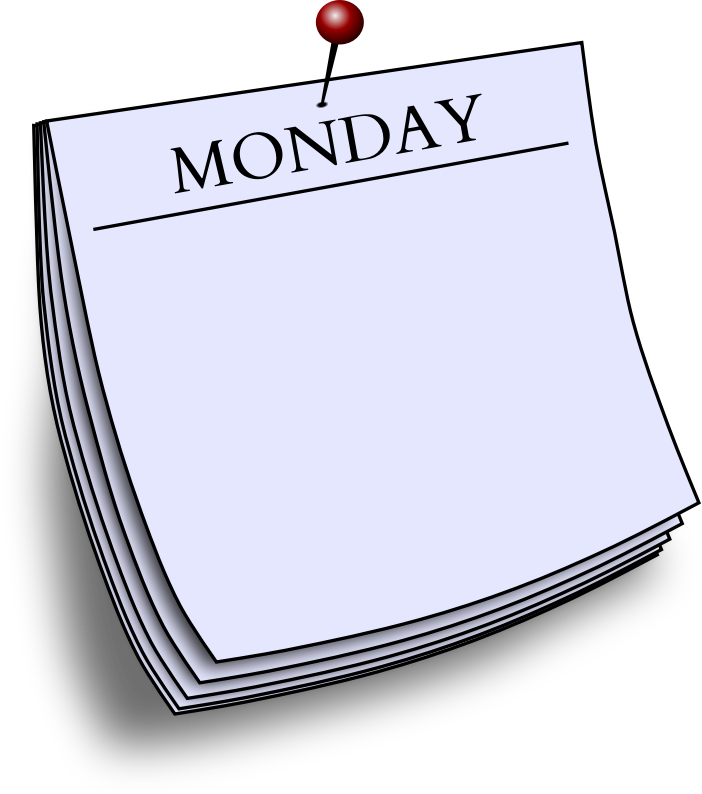 Daily note - Monday