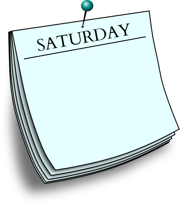 Daily note - Saturday