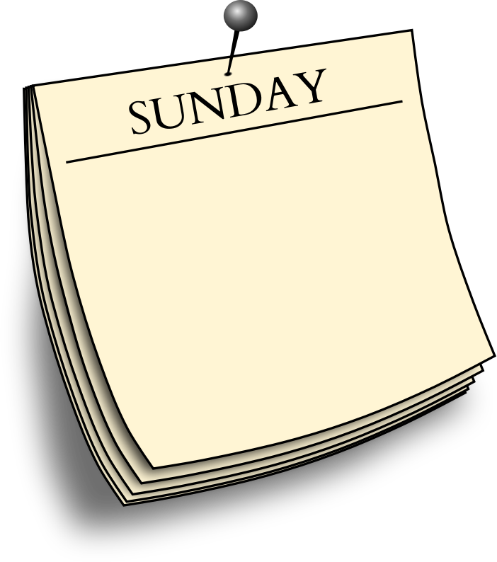 Daily note - Sunday