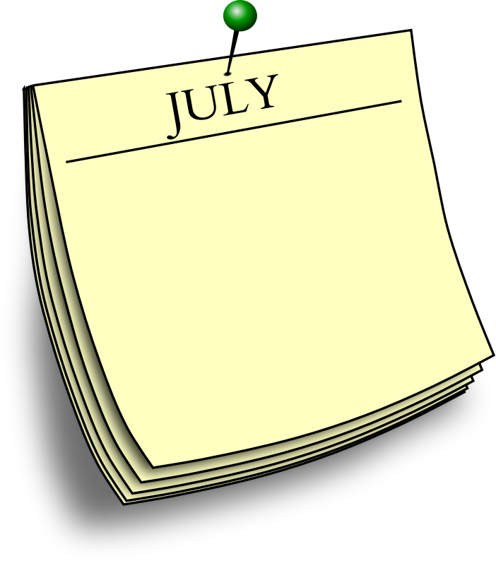 Monthly note - July