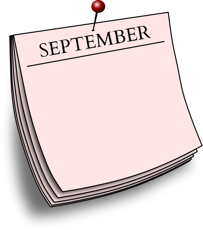 Monthly note - September