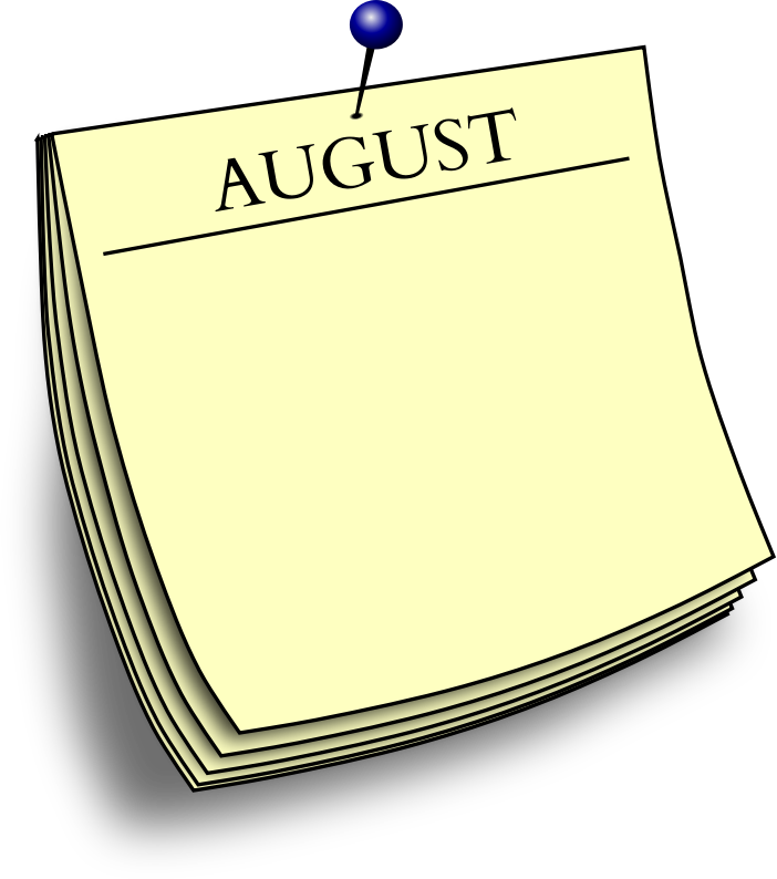 Monthly note - August