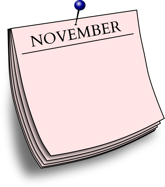 Monthly note - November