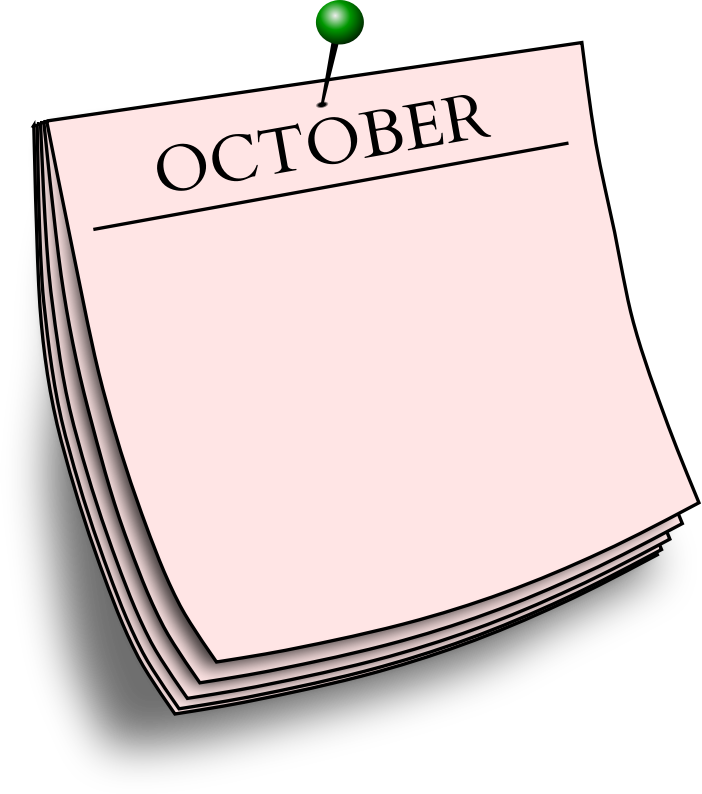 Monthly note - October