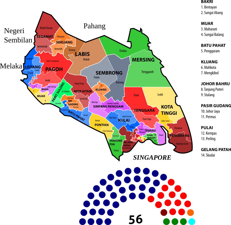 Johor State Legislative Assembly Constituencies (2013)